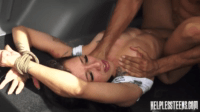 Helpless Stefania Cant Cry But Bear The Intense Load
