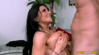 Swollen Tits Brunette Loves Her Naked Natural Body