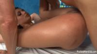 18 Year Old Babe Fucked Hard On Massage Bed