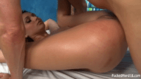18 Year Old Babe Fucked Hard On Massage Bed