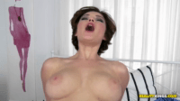 Busty Brunette Riding A Big Cock