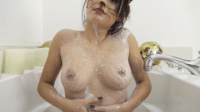 19 Year Kitty Girl Washing Her Fuck-Able Body With Milk