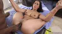 Black Dick Destroying Teen's Tight Pussy
