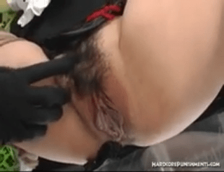 Japanese schoolgirl chained to steel rack and punished severely by femdom