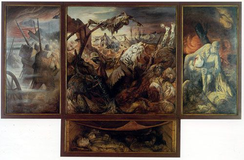 Otto Dix, La guerre, 1929, Gemäldegalerie, Dresde.
