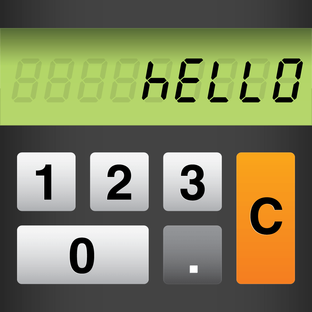 Upside Down Calculator Word Game