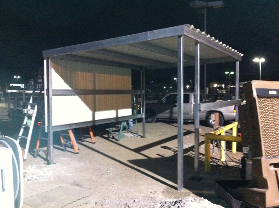 Commercial Awning for Red Ball Oxygen in Houston  A1
