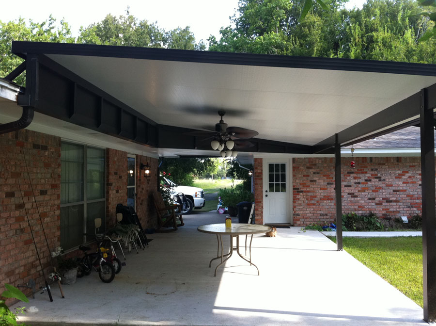 Raised Insulated Patio Cover  Baytown  A