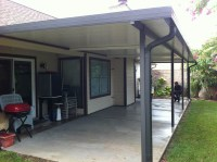 Aluminum Patio Cover with Fan Beams in Clear Lake  A-1