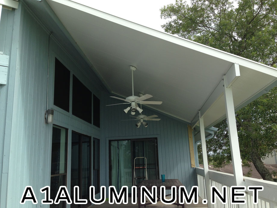 3 Insulated Aluminum Patio Cover on 2nd Story in Baytown