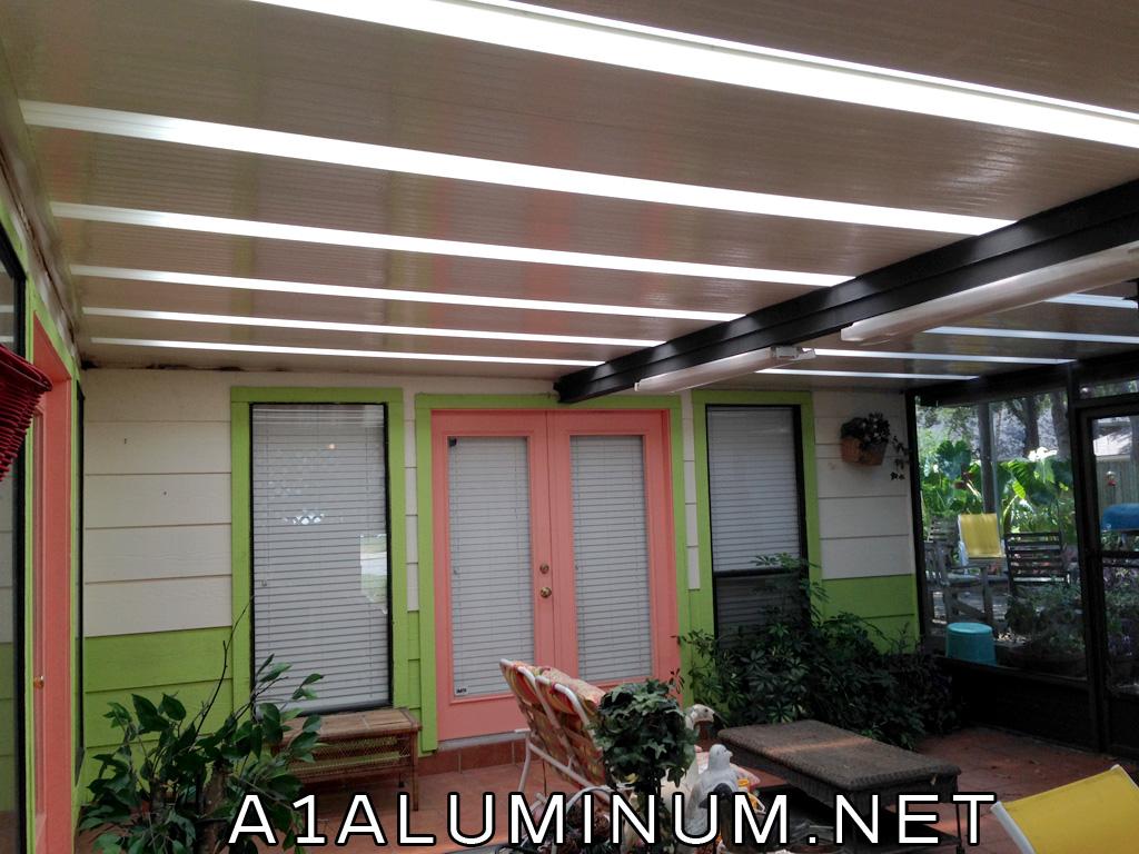 patio cover with custom made skylights