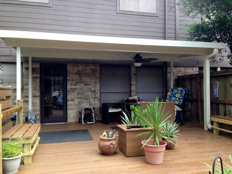 Free Standing Aluminum Patio Cover in Clear Lake TX  A1