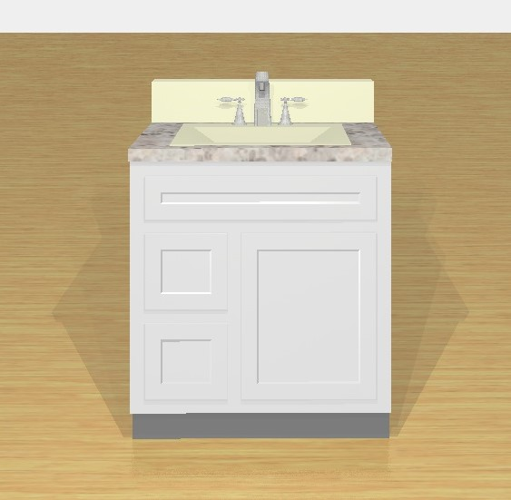 VAD3021L  A1 Cabinets  Granite