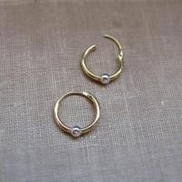 Endless Earrings - Small Gold Hoop Earrings With Silver ...