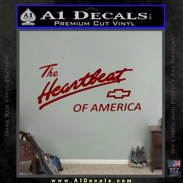 Chevy Heartbeat Of America Decal Sticker 187 A1 Decals