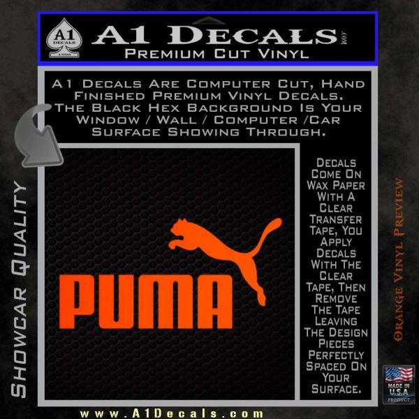 Puma Decal Sticker  A1 Decals