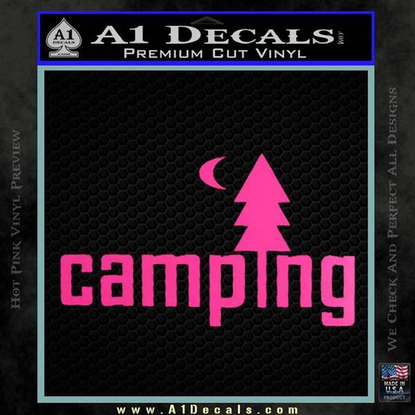 Camping Decal Sticker TXT  A1 Decals