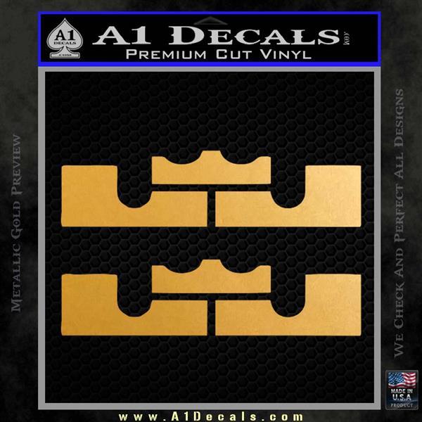 Lebron James King Miami Heat Decal Sticker  A1 Decals
