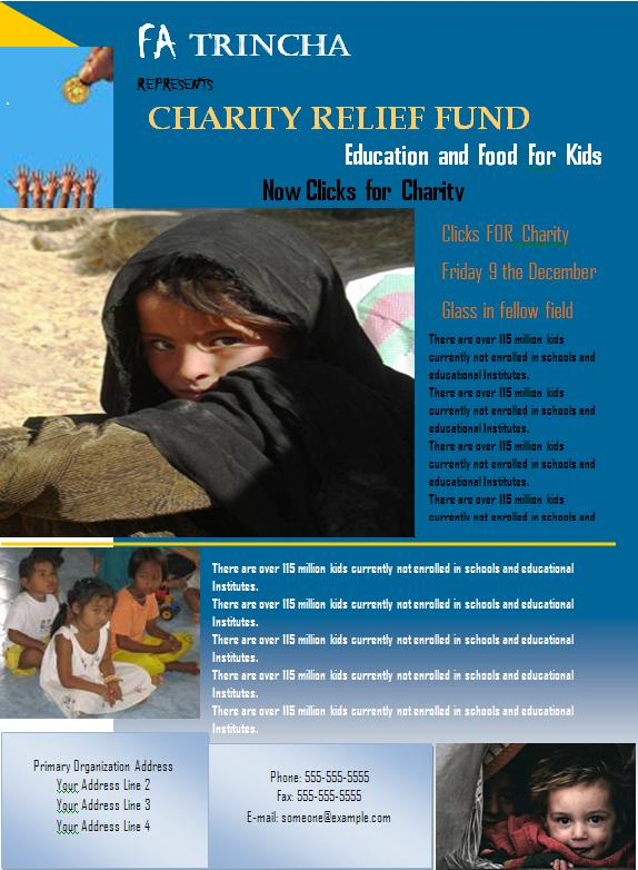 Charity Flyer Graphics And Templates