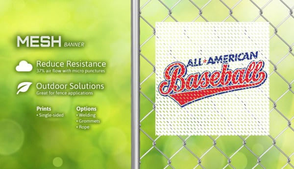 A-1 Engraving & Signs Mesh Banner