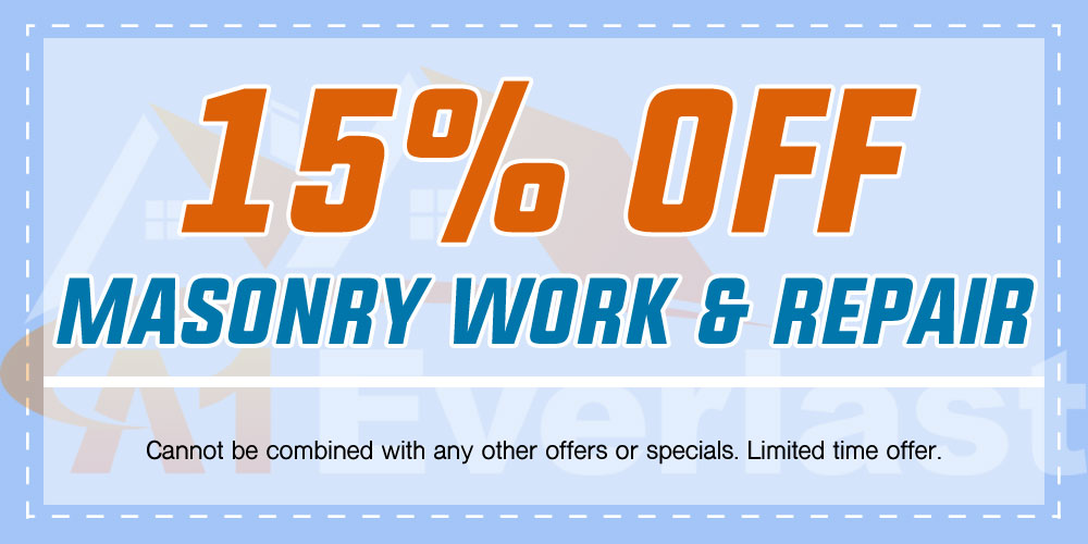 15% Off Masonry Work & Repair