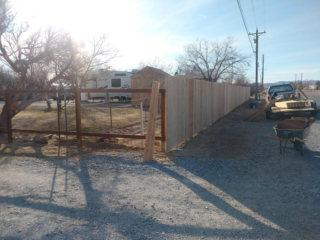 Pressure Treated Cedar Fence
