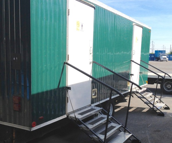 Large Restroom Trailer Rentals DE - Outside