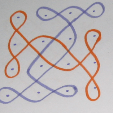 One more pattern with 4 by 4 matrix of dots