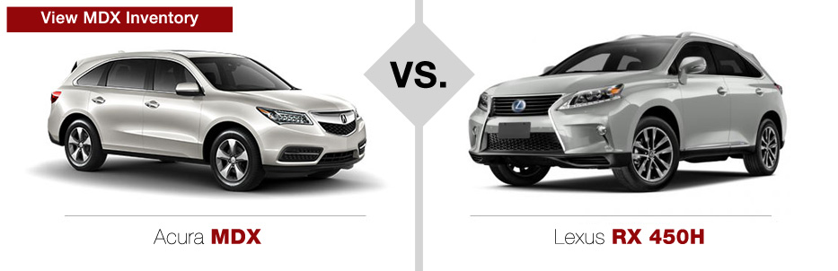Acura Vs Lexus Comparison  Muller's Woodfield Acura