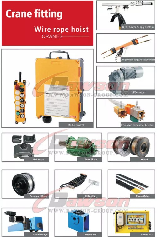 small resolution of electric wire rope hoist crane fittings dawson group ltd china manufacturer supplier
