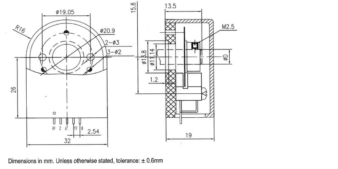 China motor encoder,YMT32,Servomotor Encoder,Optical