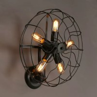 Industrial Retro rustic loft style fan shape wall sconce ...