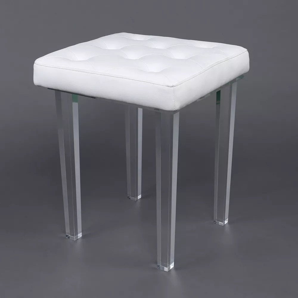 Clear Vanity Chair Counter Bar Stool Base Bar Chairs Cheap Kitchen Clear Acrylic