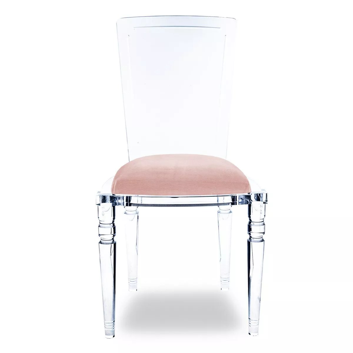 Plexiglass Chairs Transparent Acrylic Chair Lucite Wedding Chair Pink Cushion Dining
