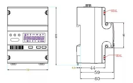 EM418 10(100)A MID approved Single Phase multi-function