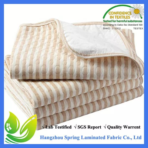 Waterproof Quilted Crib Size Ed Mattress Cover Made With Organic Cotton Natural Color