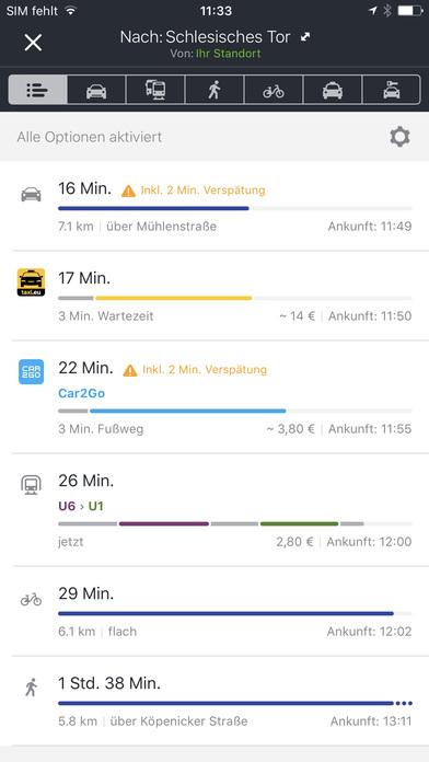HERE WeGo - Routenplaner & offline Navigation Screenshot