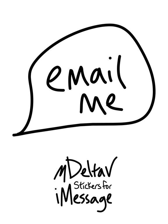 Email sticker, inbox text me stickers for iMessage par
