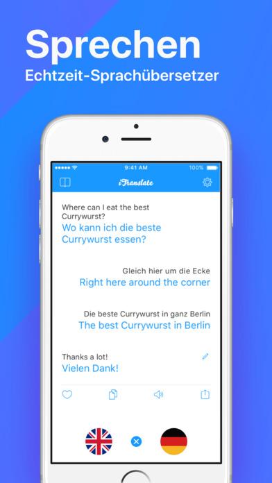 iTranslate - Sprachen Übersetzer & Wörterbuch Screenshot
