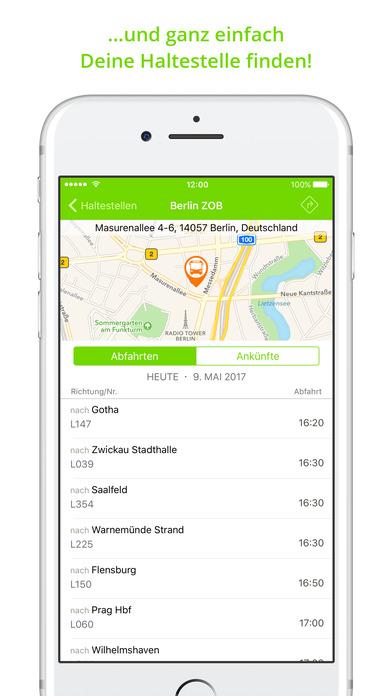 FlixBus Fernbus App - mit dem Fernbus durch Europa Screenshot