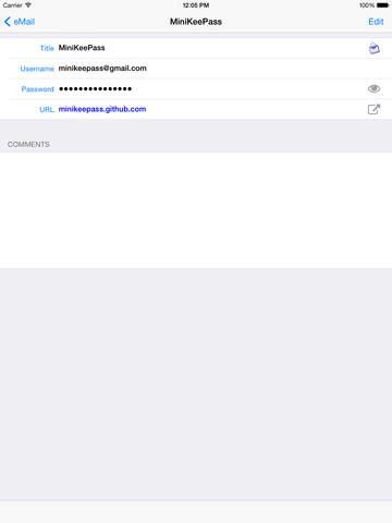 MiniKeePass — Secure Password Manager Screenshot
