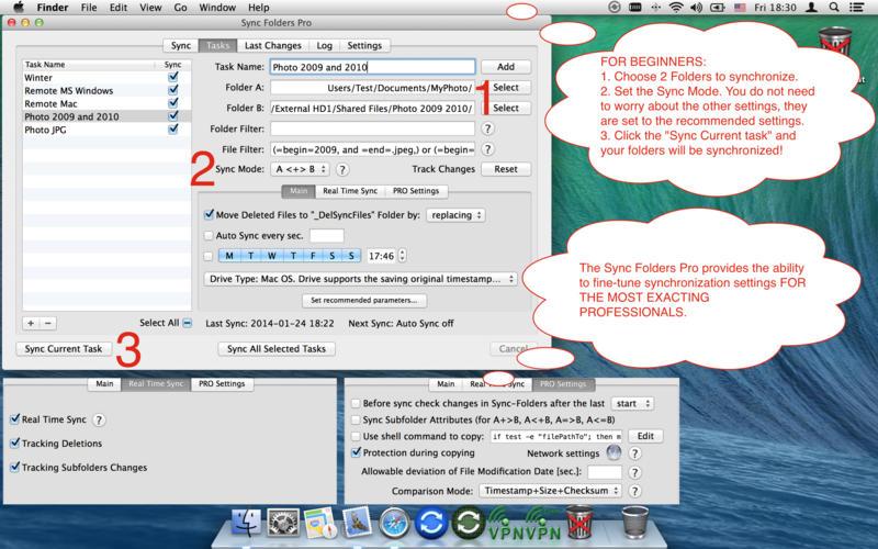 Sync Folders Pro 4.4.2 Mac 破解版 - Mac上优秀的文件夹同步工具