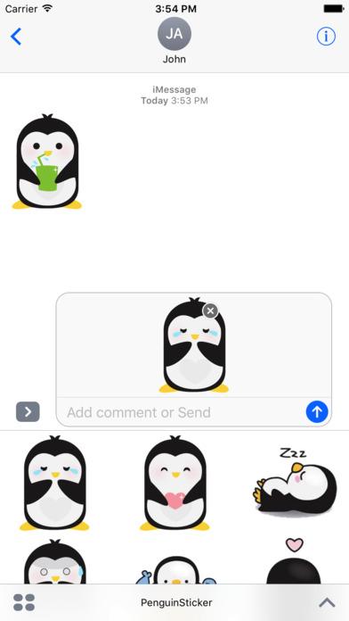 Penguin Love Sticker 通过 thien tran
