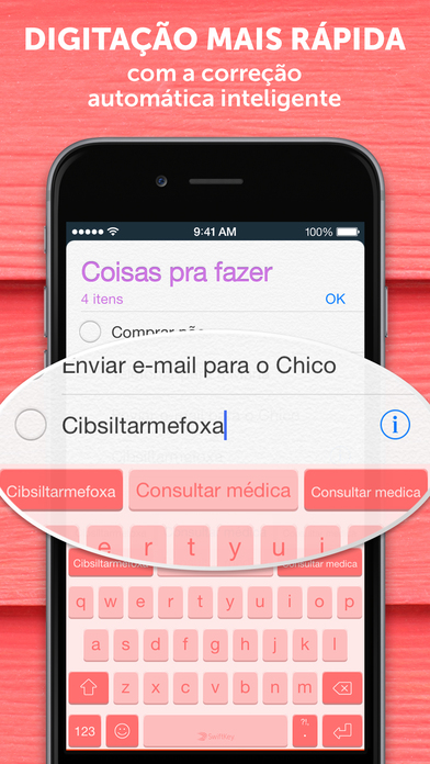 Screenshot do app Teclado SwiftKey