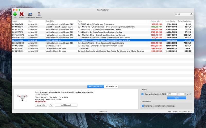 PriceWatcher for Mac 1.2.37 激活版 - 价格变动监控软件