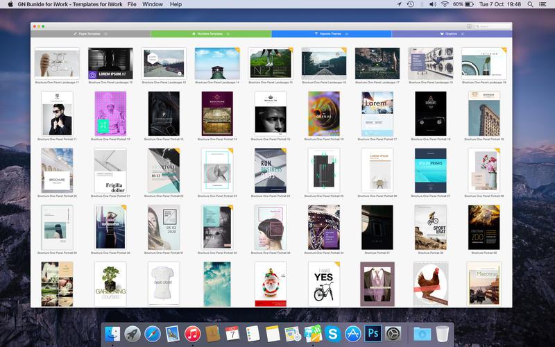 Bundle for iWork - Templates for iWork for Mac 5.3 破解版 - iWork模板合集