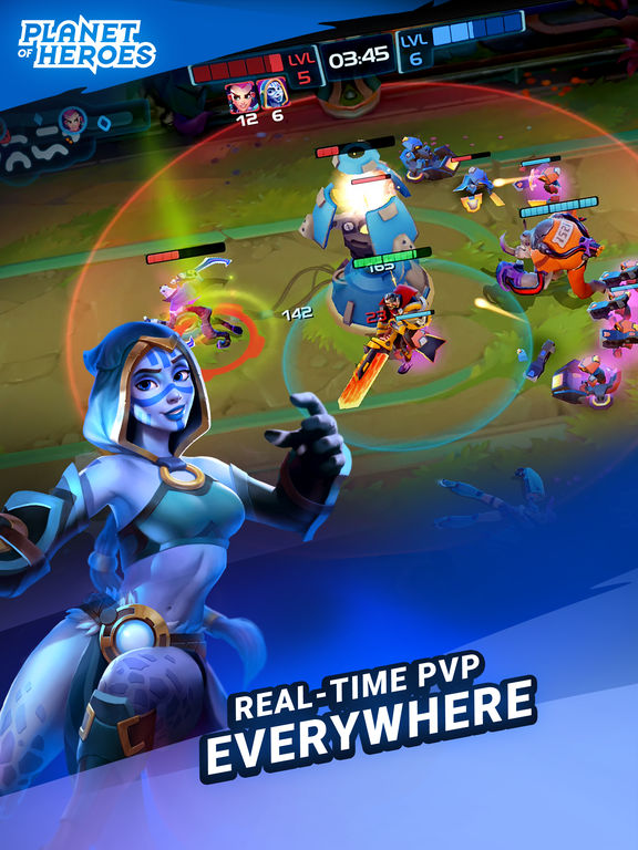 Planet of Heroes - Be a Legend in a Mobile MOBA Screenshot