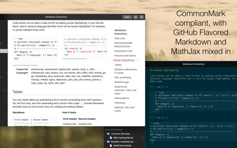 Versatil Markdown 2.1.1 Mac 破解版 - 文本编辑器