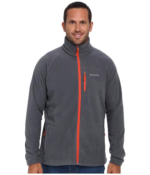 Cheap Price Columbia Fast Trek™ II Full-Zip Fleece Jacket - Tall Graphite/State Orange - Men's Fleece Jackets
