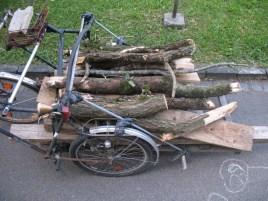 holztransport fahrrad